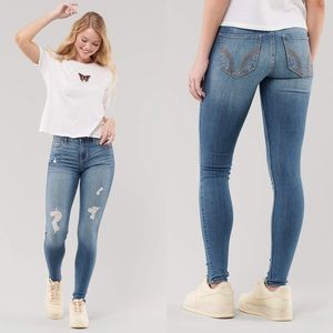 Hollister Stretch Mid-Rise Super Skinny Jeans | 27